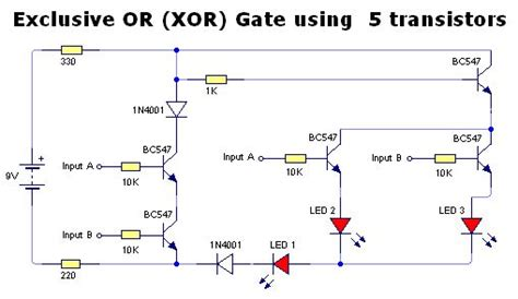 transistor logic gate xor diagram for xnor gate ladder not gate diagram elsavadorla