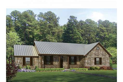 Texas House Plans by Texas Hill Country Split Bedroom Plan Hwbdo69040 Ranch