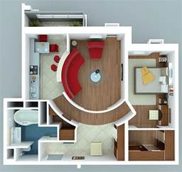 1 bedroom apartment house plans - One Bedroom House Designs Plans