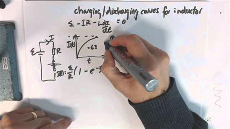charging discharging inductor equation charging discharging equations for inductor
