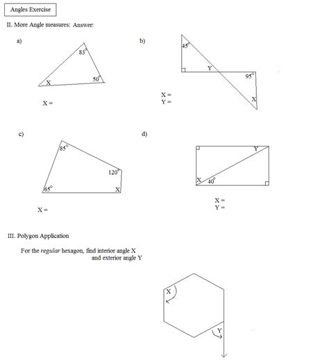 Exterior Angles Worksheet by Mathworksheets4kids Triangle Interior Angle Triangles