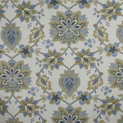 home decor fabric cottage blue