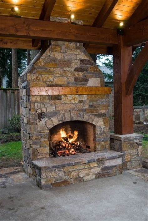 Patio Fireplace by Fireplace In A Pavilion Outdoor Living And Gardening