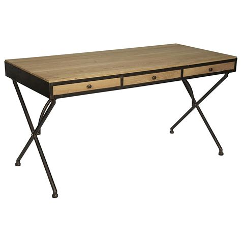 rustic industrial desk benny rustic industrial natural wood dark metal desk