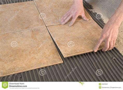 U Build It Floor Plans by Builder Floor Tiles Installed Royalty Free Stock