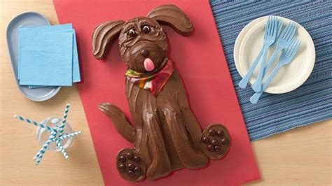 chocolate lab dog cake recipe from betty crocker