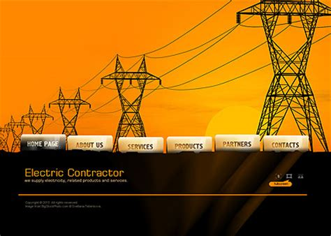 Electric Contractor Dynamic Easy Flash Template Html5 Web Templates 300110824 Free Electrician Website Template