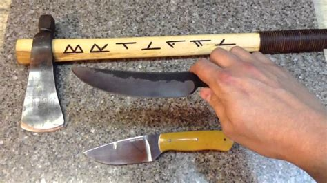 knife and tomahawk knife and forged tomahawk and knife