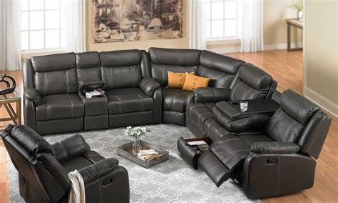 Sofas With Recliners Grey Reclining Sectional Sofa Cleanupflorida