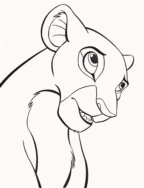 lion king nala coloring pages walt disney coloring pages nala walt disney characters