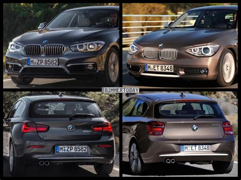 Bmw 1er Facelift Unterschiede 2015 by Bild Vergleich Bmw 1er 2015 Im Vergleich Zum Vor Facelift F20