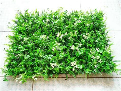 Am046 Limited Bunga Plastik Hias 40 60 cm diy artificial turf 3d wall stickers garden decor
