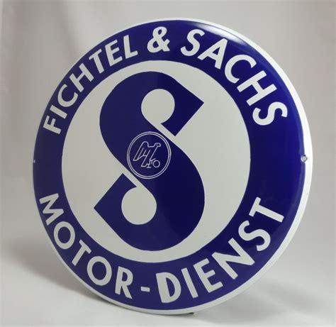 Sachs Motor Service by Fichtel Sachs Motor Service Emaille Shield Diameter