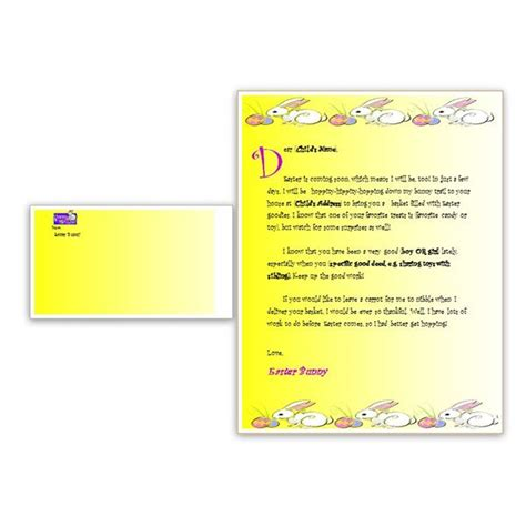 letter to the easter bunny template a free easter bunny letter template for ms word