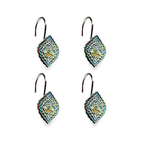 diamond shower curtain hooks buy dena home diamond shower curtain hooks set of 12