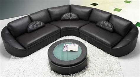 coffee table for black leather couch black leather modern sectional sofa w coffee table