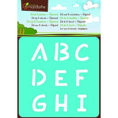 lettere alfabeto maiuscole da stare pochoirs set de 6 pochoirs alphabet lettres majuscules