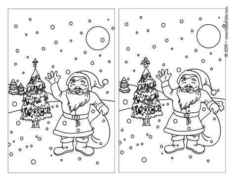 printable christmas spot the difference games snowy christmas night online games hellokids com