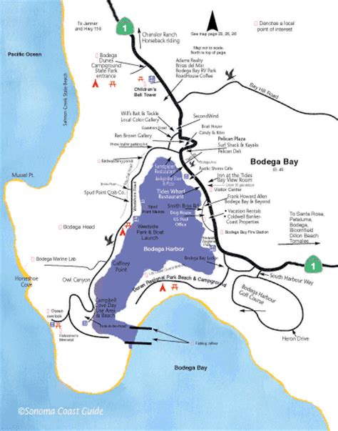 california map bodega bay bodega bay sonoma coast guide