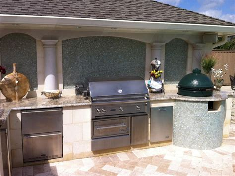 Kitchen Backsplash Blue by Small Outdoor Kitchen Ideas Pictures Amp Tips From Hgtv Hgtv