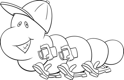 imagenes infantiles para colorear de gusanos gusano camino colegio dibujalia dibujos para colorear