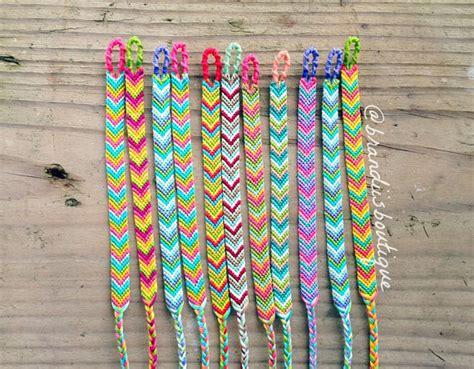 Chevron Friendship Bracelets choose your own colors