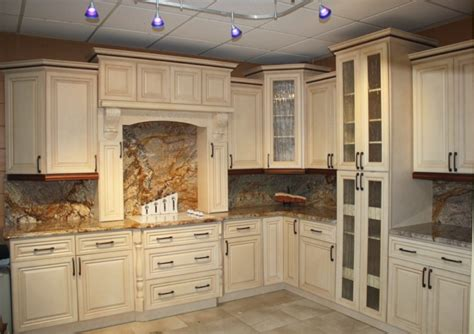 antiqued kitchen cabinets antique white cabinets