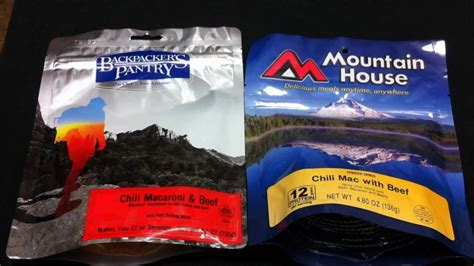 Mountain House Vs Backpackers Pantry by Comparison Mountain House And Backpackers Pantry Food