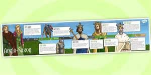 ks2 history timelines anglo saxons timeline