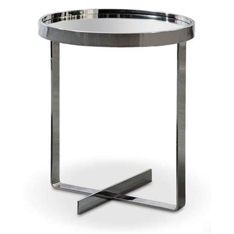small mirrored accent table modrest wilcox contemporary small mirrored end table