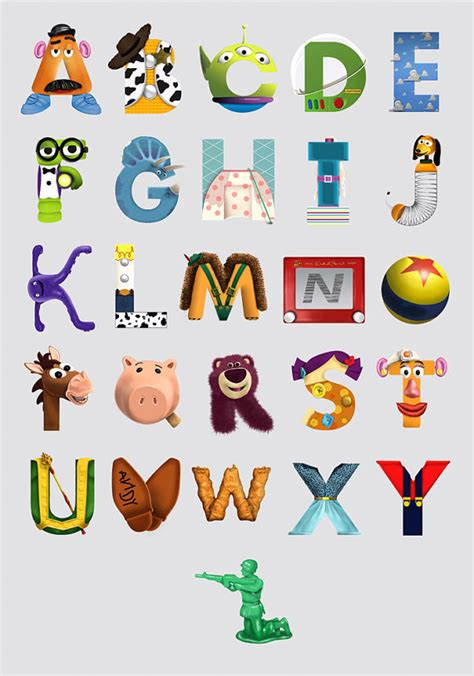 Disney Character Letter Q Alphabet Poster Wall Baby Shower Present