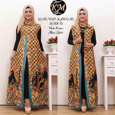 Baju Muslim Batik contoh baju batik wanita modern model dress batik terbaru 2018