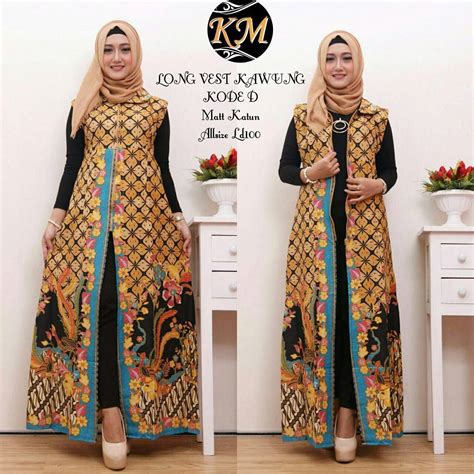 Tunik Batik Arimbi Wayang 2 contoh baju batik wanita modern model dress batik terbaru 2018