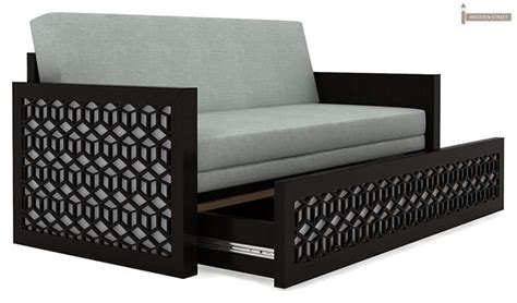 sofa cum bed size betty sofa cum bed king size black finish