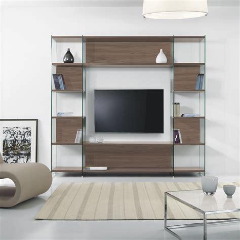librerie da salotto byblos3 libreria da salotto porta tv in laminato e vetro