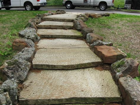 flagstone steps flagstone steps traditional landscape dallas by