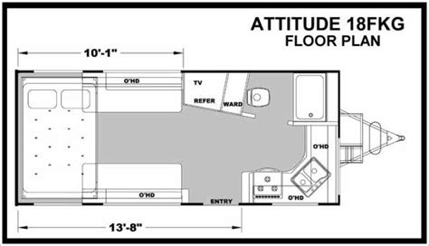attitude toy hauler floor plans 2014 eclipse attitude pro lite l18fkg travel trailer