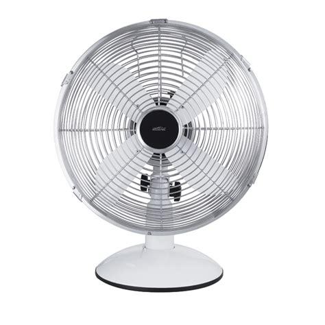 retro desk fan target bunnings mistral 30cm white and chrome retro desk fan