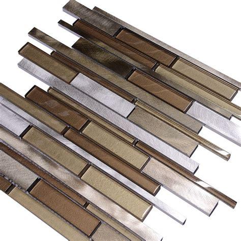 metallic subway tile backsplash metallic brown glass subway tile modern tile by