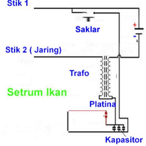 fungsi kapasitor pada setrum ikan cara membuat setrum ikan aki 12 volt dan skema petunjuknya