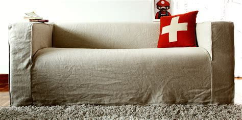 loose couch covers spruce up your ikea klippan sofa cover in a loose linen