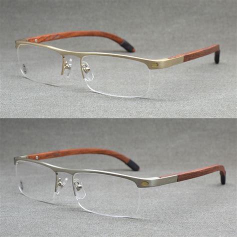 top quality rimless gold eye glasses frame vintage