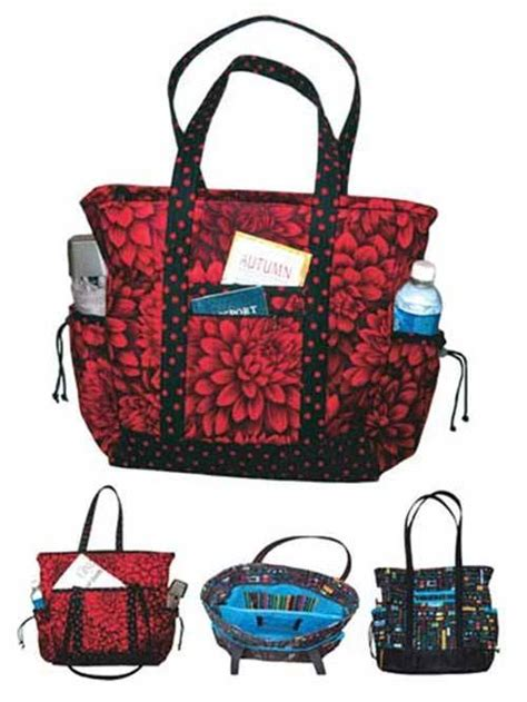 sewing pattern tote bag pockets going to the office or running errands this professional