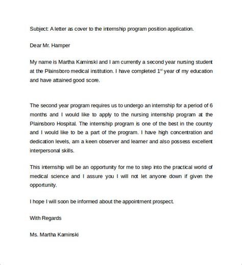 cover letter for student sle nursing cover letter exle 10 free
