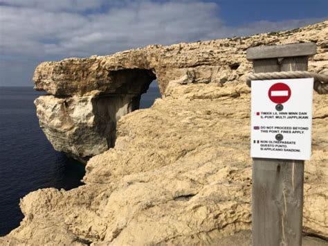 azure window collapsed malta s azure window rock formation collapses into the sea