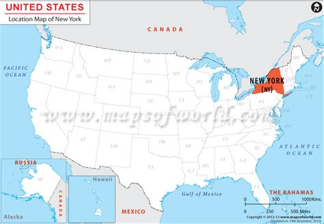map of new york usa where is new york location of new york