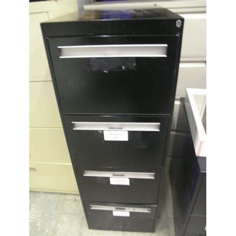 black 4 drawer vertical filing cabinet locking