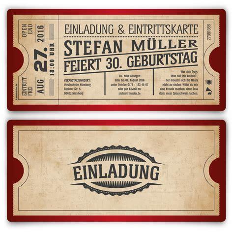 Einladungskarten Rot by Altes Kinoticket Als Geburtstagseinladungen In Rot Vintage