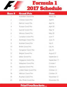 printable formula 1 schedule f1 race dates 2017