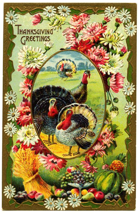 printable vintage thanksgiving cards thanksgiving turkeys vintage postcard old design shop blog